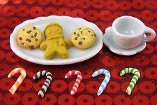 Littlest Pet Shop 11pc CHRISTMAS CUSTOM ACCESSORIES LOT SANTA COOKIES CANDY CANE