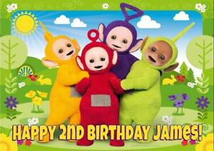 ANY NAME AGE RELATION TELETUBBIES PERSONALISED BIRTHDAY CARD