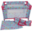 Dolls-World-Travel-COT-for-18-034-Baby-Doll-Bed-Quilt-Pillow-amp-Carry-Bag-Girls-Toy