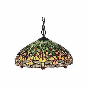 4b3ae3b1c3f9 Buy Amora Lighting AM1027HL18 Tiffany Style Dragonfly Pendant Lamp ...