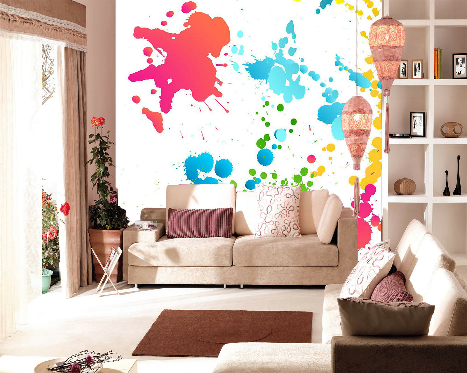 3D Farbe Ink Paint 534 Wall Paper Wall Print Decal Wall Deco Indoor Mural Carly