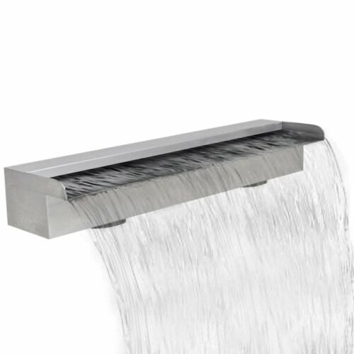 Outdoor Waterfall Pool Fountain Stainless Steel for Garden Cascade Home Decor UK