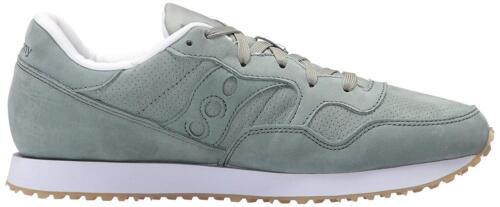 Saucony Originals Mens Green Nubuck  Leather DXN Trainer CL Running Sneaker Shoe