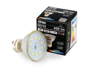 LED-Line-10x-GU10-5W-LED-Leuchtmittel-Kaltweiss-6500K-450-Lumen-Einbauleuchte
