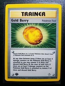 NM Pokemon Card GOLD BERRY 93//111 Neo Genesis Set Uncommon Unlimited