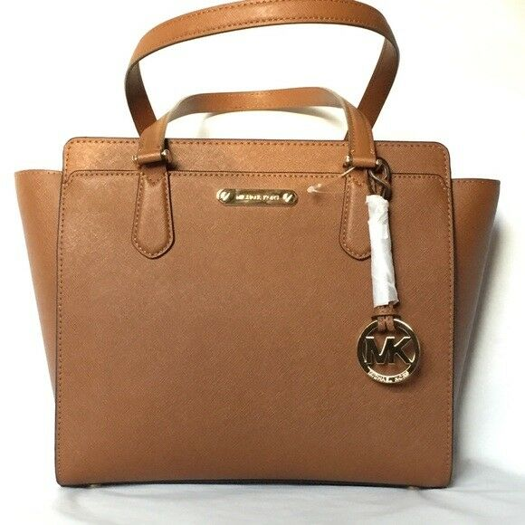 9e698fe87ea9 Michael Kors Dee Dee Medium Safiano Leather Tote Dust Bag Luggage Tan for  sale online | eBay