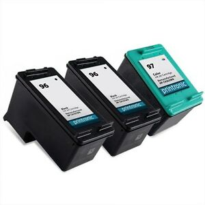 3pk-Printronic-For-Hp-96-97-C8767WN-C9363WN-Black-Color-Ink-Cartridge