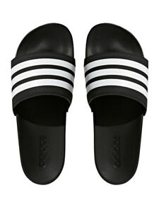 e98dc8e52ec815 Details about Adidas Men s Adilette CloudFoam Plus-Mono Slides 3-Stripe  Comfort Sandals