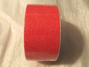 "NEON ORANGE>>NON SKID SAFETY TAPE >> 2""x12' Roll >> 60 GRIT >> ADHESIVE BACK"