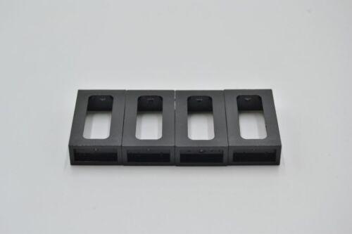 LEGO 4 x Fenster Zug Eisenbahn schwarz Black Window 1x2x3 Train 4035