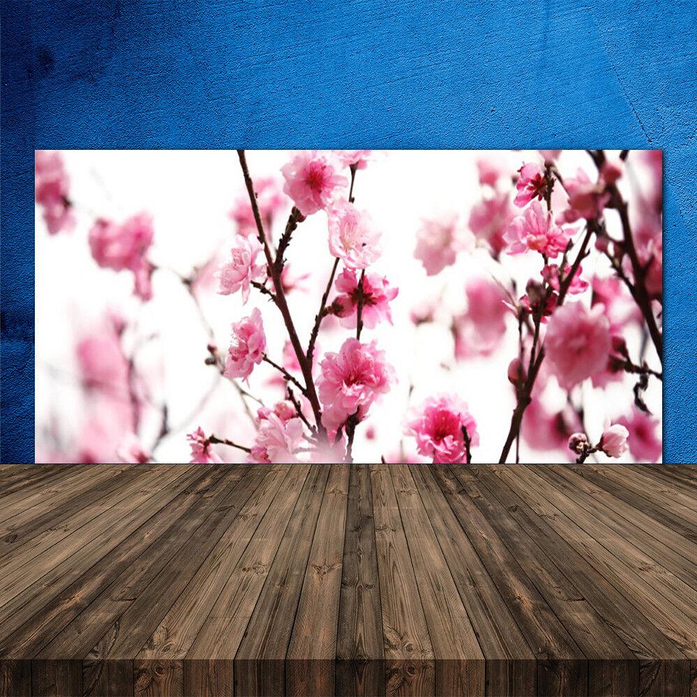 Crédence de cuisine en verre Panneau 120x60 Floral Branches Fleurs
