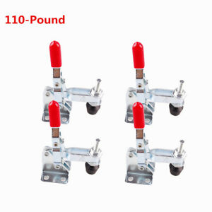 US Stock 4pcs 101A 50Kg 110 Lbs Quick Holding Vertical Type Toggle Clamp