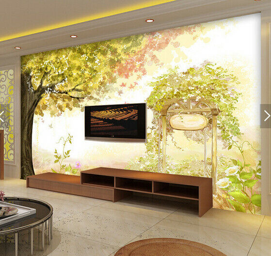 3D Tree Ainted 412 Wallpaper Murals Wall Print Wallpaper Mural AJ WALL AU Kyra