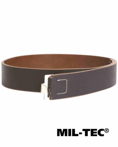 Mil-Tec WH Ceinturon Courroie 45 mm Vollleder Noir Ceinture