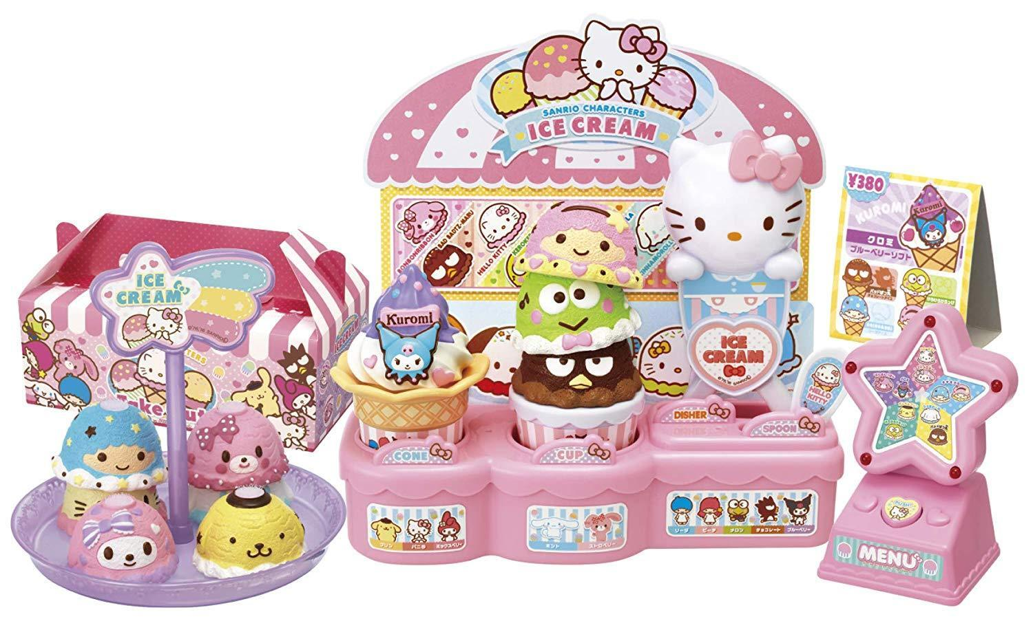 NEW SANRIO Characters Ice Cream Double Triple Set Hello Kitty My melody Toy F S