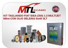 KIT TAGLIANDO FIAT IDEA (350) 1.3 MULTIJET 66kw CON OLIO SELENIA 5w40 3LT
