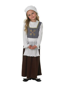 Child-Tudor-Girl-Outfit-Fancy-Dress-Costume-Book-Week-Victorian-Poor-Maid-Girls