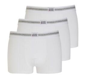 Hommes Jockey Homme Boxer Shorts Sous-vêtements 3 Pack Blanc