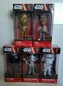 Star Wars: Vii Funko, Bobble Head, C3po, Finn, Kylo Ren, Capitaine Phasma, S Trooper