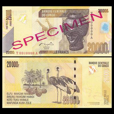 UNC 200 Francs SPECIMEN 2007 P-99s Congo D.R