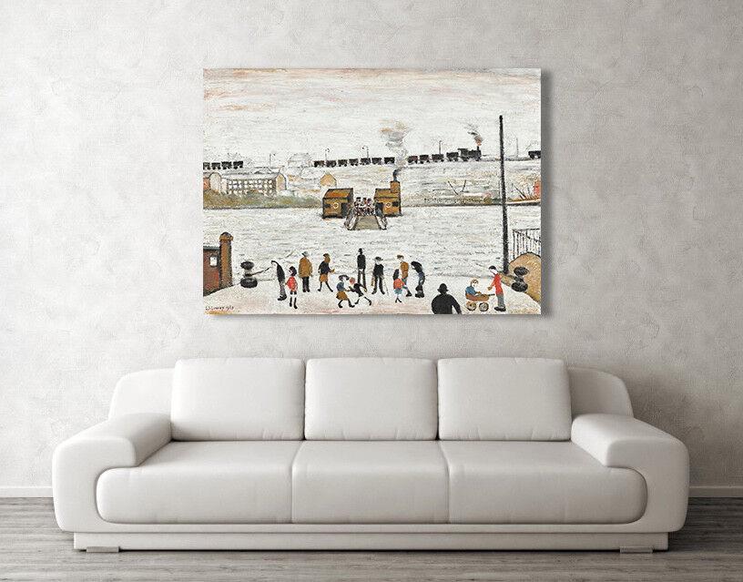 LS Lowry, Il traghetto a Blyth REPRO Box Tela A3, Arte Foto Stampa A4, A3, Tela A2, A1 d892cb
