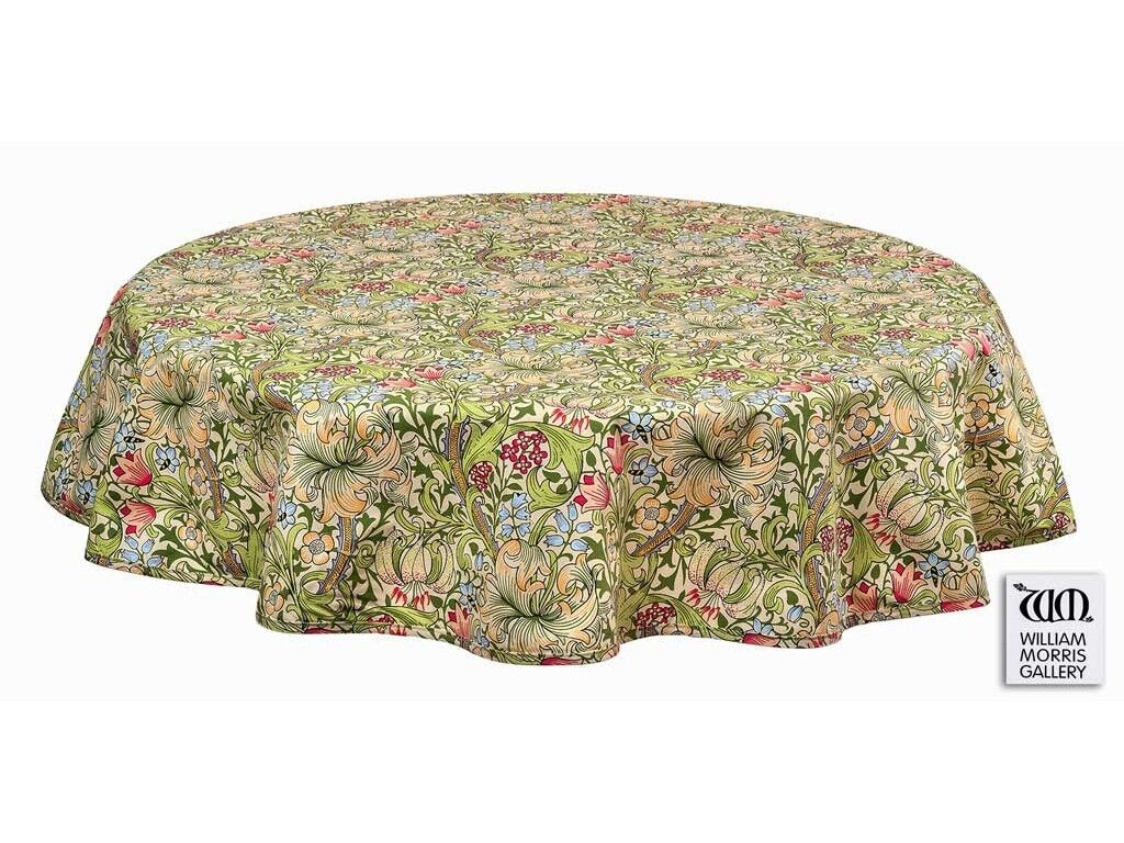William Morris Gallery golden Lily PVC Oil Table Cloths