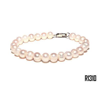 Echt Süßwasser Zucht Perlenkette Armband Armkette Armreifen 18cm R1310
