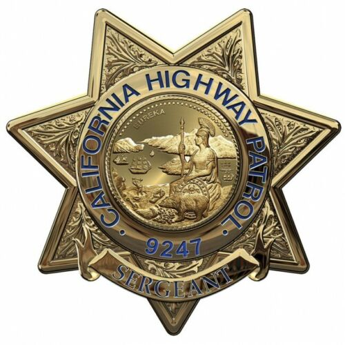 Badge all Metal Sign with your badge number Sergeant California Highway Patrol