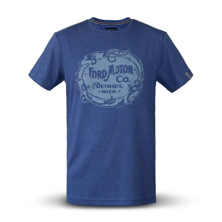 Ford Heritage T-Shirt in bluee with Grey Print FORD MOTOR COMPANY PRINT