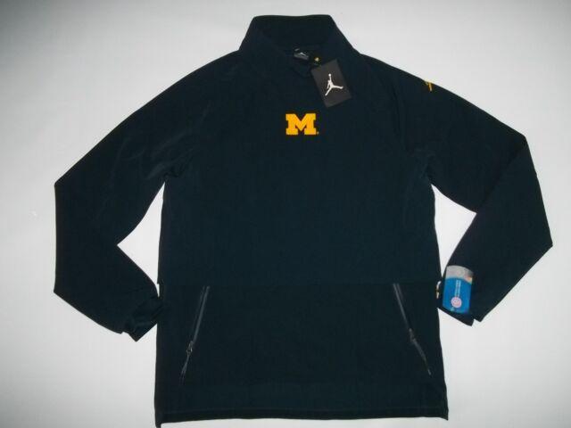 9713dcb196f8 Nike AIR JORDAN Brand Michigan Wolverines JUMPMAN Shield JACKET Mens LARGE  NEW