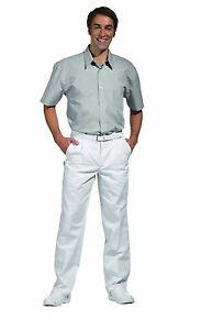 Amical Arzthose Messieurs-pantalon Taille 44-64 Original Bergschuhe Blanc Pflegerhose Médecin Chef-afficher Le Titre D'origine
