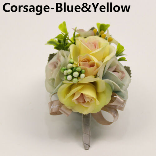 Wedding Supplies Gifts Lace Leaves Wrist Flower Rose Boutonniere Groom Corsage