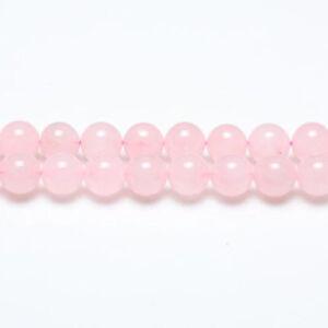 Strand-60-Pink-Rose-Quartz-6mm-Plain-Round-Beads-GS1581-2