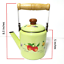 thumbnail 2 - Green-enamelware-pot-camping-coffee-Tea-Kettle-Vintage-enamel-cookware