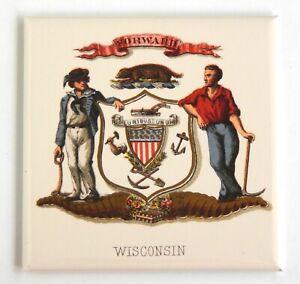 Massachusetts Coat of Arms FRIDGE MAGNET