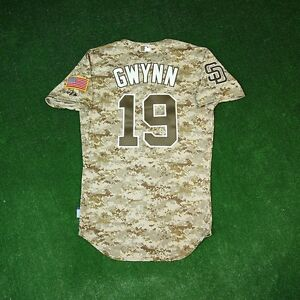 reputable site 0e15f 40de7 Details about TONY GWYNN San Diego Padres AUTHENTIC ON-FIELD USMC Camo Cool  Base Jersey