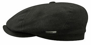 cc24bcffd03 Image is loading Stetson-Brooklin-Cotton-Canvas-Newsboy-Cap-Small-to-