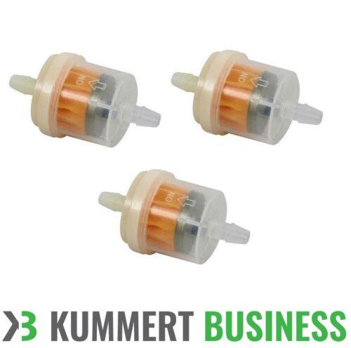 3x Stück Benzinfilter Kraftstofffilter Vorfilter für PKW Auto Motorrad 6mm//6mm