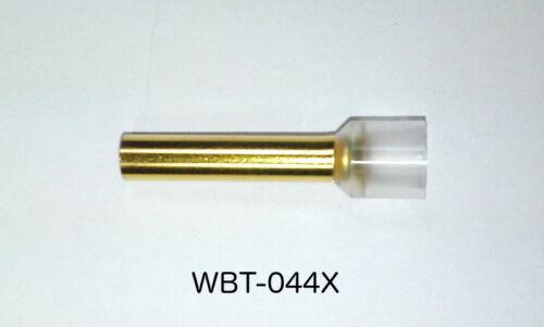 10 Stück WBT-0443 4,0qmm Aderendhülsen mit Isolierung OFC Kupfer vergoldet
