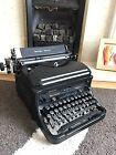 Vintage Remington noiseless Black Typewriter Wedding Prop Antique Working Glossy