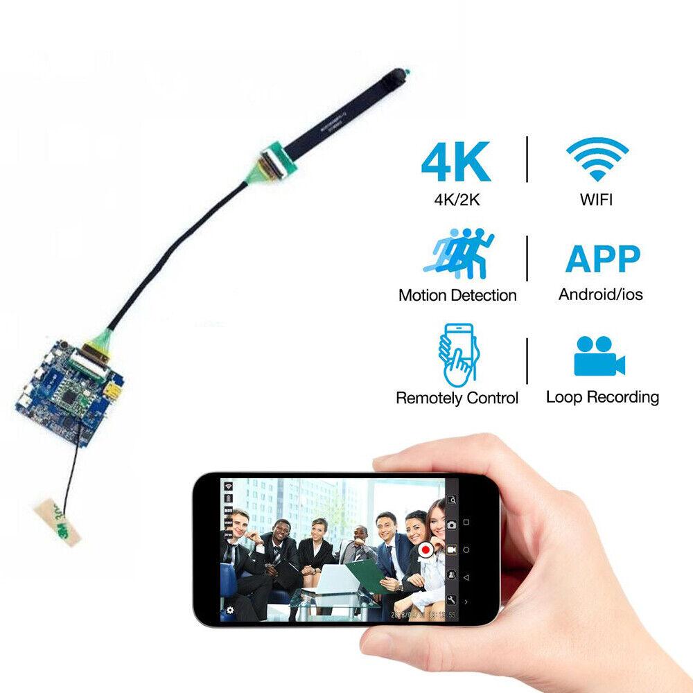 smallest WiFi Wireless 4K 1080P HD Mini Spy Hidden pinhole DIY Camera DVR Cam