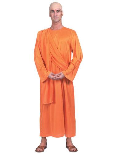 MONACO TIBETANO Costume buddista Buddha Tailandese SHAOLIN mantelli ARANCIONE FANCY DRESS