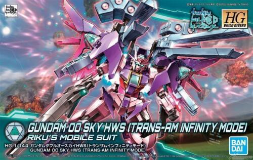 Gundam 1//144 HGBD #021 Build Divers 00 Sky HWS Trans-Am Infinity Ver Model Kit