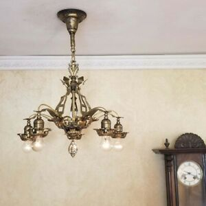 739b Vintage Antique Ceiling Light Lamp