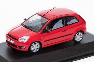 Ford-fiesta-Mk5-3dr-Rojo-Modelo-de-concesionario-Minichamps-Escala-1-43-regalo-de-coche
