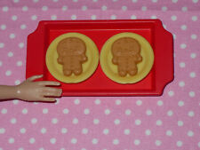 FASHION DOLL FOOD LOT 4 CHRISTMAS GINGERBREAD COOKIES 1//6 LITTLES #2