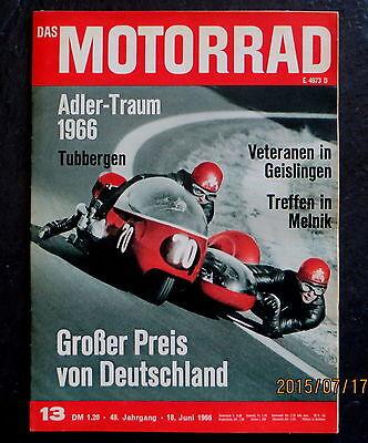 Automobilia Honig Das Motorrad 13/66 Gp Deutschland,zündanlage Kreidler Florett-motor,gp-technik