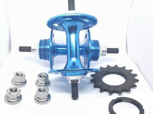 BMX RACING Blue Sealed Bearing bicycle track hub 32h Fixed flip flop fixie road