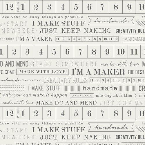 Maker je suis un fabricant par Art Gallery tissus 100/% coton quilting /& patchwork tissu