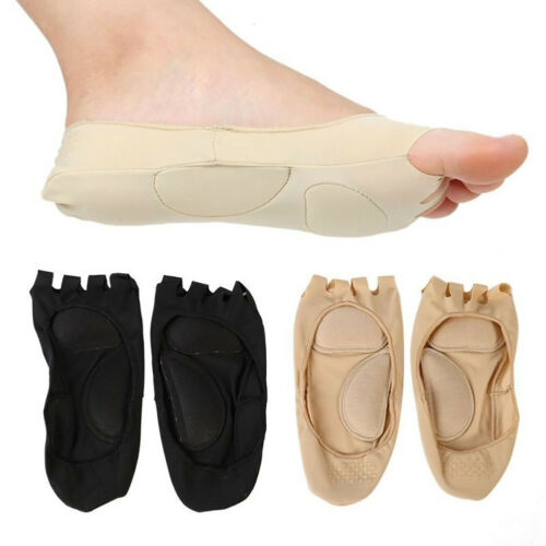 AM/_ 1 Pair Women Summer Invisible Five Toe Foot Arch Care Compression Socks Sanw